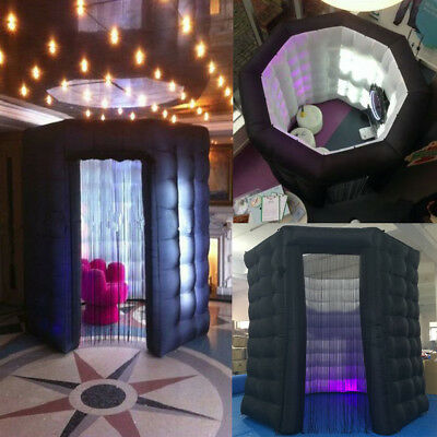 OCTAGON STYLE Inflatable LED Light Photo Booth Tent Party Birthday Wedding 110V