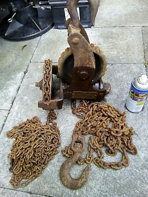 Vintage Chain hoist Block And Tackle  Herbert Morris 10cwt