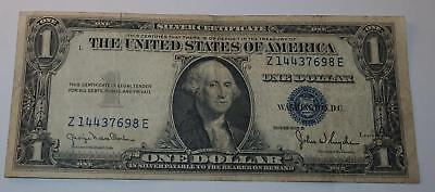 1935 D  U S ONE DOLLAR BILL Blue Seal $1  Silver Certificate Note Numismatic