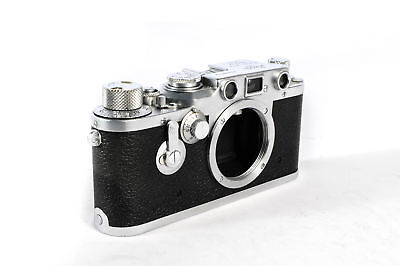 Leica IIIC Converted To IIIF Black Dial, Self-Timer 35mm Camera Body