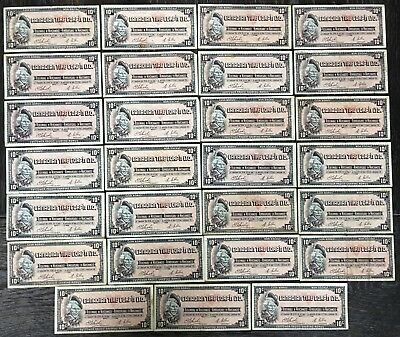 Lot of 27x Vintage 1961 Canadian Tire 10 Cents Notes - CTC-S1-C-L