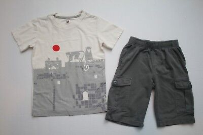 Boys Tea Collection Palace Monkeys Graphic Tee & FrenchTerry Cargo Shorts Size 7