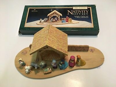 Hallmark NATIVITY SET Merry Miniatures Christmas Kings Mary Joseph Jesus MIB