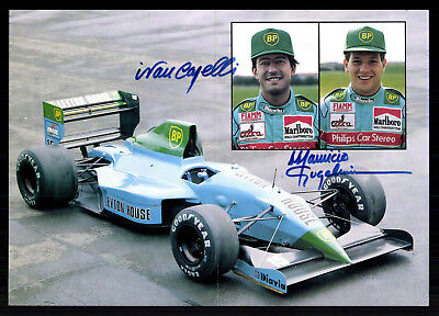 Team Leyton House March Racing Team Original Signiert Motorsport+ G 19991