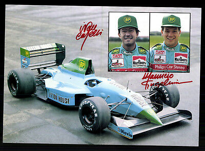 Team Leyton House March Racing Team Original Signiert Motorsport+ G 19992