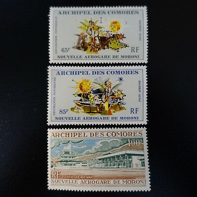 France Colonie Comores Poste Aérienne Pa N°39/41 Neuf ** Luxe Mnh
