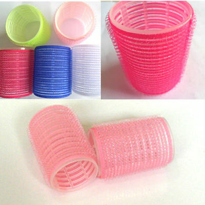 New 6pcs Large Hair Salon Rollers Curlers Tools Hairdressing tool Soft DIY@@ LA