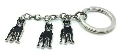 Cane Corso Lovers Key Chain or Purse Charm 3 Dogs attached