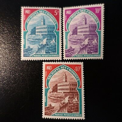 France Colonie Comores N°60/62 Neuf ** Luxe Mnh