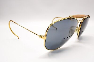 Nice Vintage Bausch & Lomb Ray Ban Shooter Gold Rx Sunglasses Frames 58[]14 6809