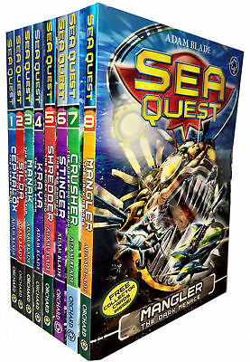 Sea Quest Series 1 and 2 Collection Adam Blade 8 Books Set BOX SET