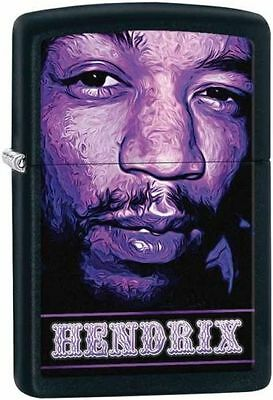 "Zippo ""Jimi Hendrix"" Black Matte Finish Lighter, Full Size,  29168"