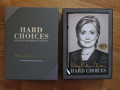 First Lady HILLARY CLINTON signed HARD CHOICES 1st Edition 2014 Book Premiere
