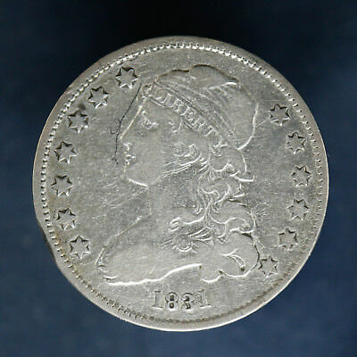 1831 Capped Bust Quarter 25C F / Vf Fine / Very Fine Details Small Scratch Obv