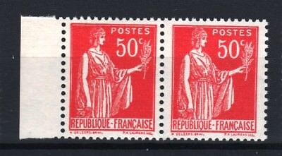 "FRANCE STAMP TIMBRE 283 s "" PAIX 50c FAUX DE BARCELONE PAIRE "" NEUF xx LUXE R761"