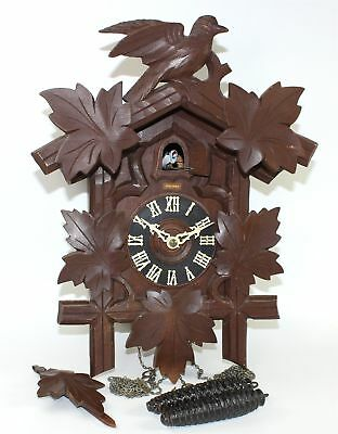 Vintage Hubert Herr 30 Hour Cuckoo Clock Clock - Runs Mc90