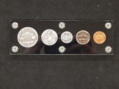 1962 90% Silver United States Mint Proof Set 5 Coins Capitol Plastic Holder #831