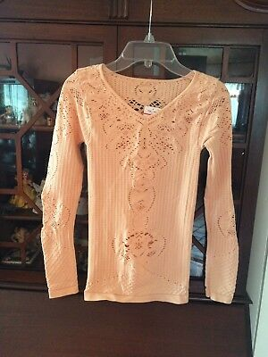 NWT! INTIMATELY  FREE PEOPLE Layering TOP XS PEONY ~ PRETTY!