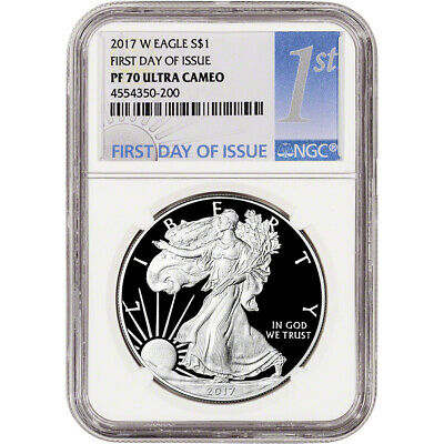 2017-W American Silver Eagle Proof - NGC PF70 UCAM First Day Issue 1st Label
