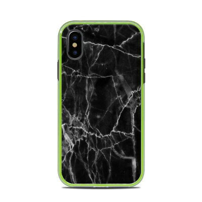 Skin for LifeProof SLAM iPhone X - Black Marble - Sticker Decal