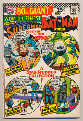 WORLD'S FINEST COMICS #161 F, BATMAN, SUPERMAN, 80 Page Giant, DC Comics 1966