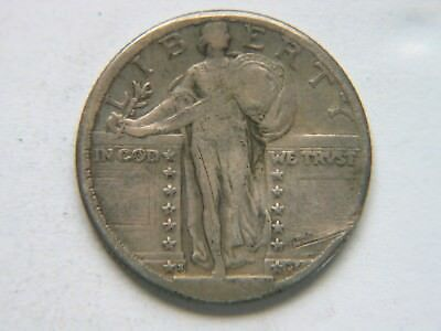 1923-S 25C Standing Liberty Quarter Rare Key Date Nice Coin Obverse Dig
