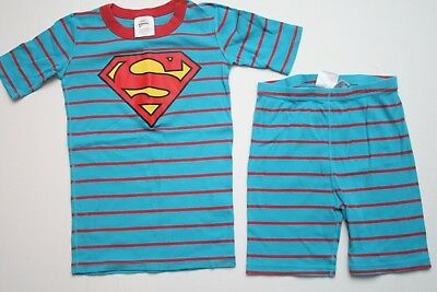Boys Hanna Andersson Superman Short John Cotton Pajamas PJs Size 150 12 Years