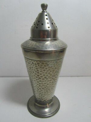 ART DECO ARTS AND CRAFTS PEWTER SUGAR SHAKER AE Poston & son London