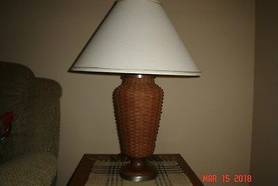 Longaberger Woven Table Lamp - Hostess Collection - Rich Brown