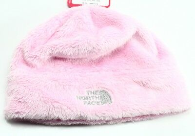 The North Face NEW Coy Pink Faux Fur Baby Girls Size 6-24M Cute Oso Beanie #332