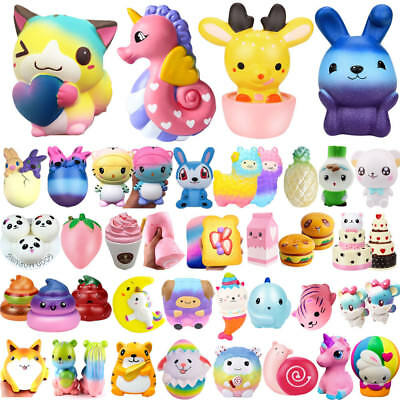 Jumbo Slow Rising Squishies Scented Charms Fun Squishy Squeeze Kids Toy Gift Lot