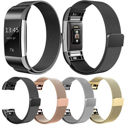 Milanese Stainless Steel Wristband Watch Band Strap Bracelet For Fitbit Charge 2