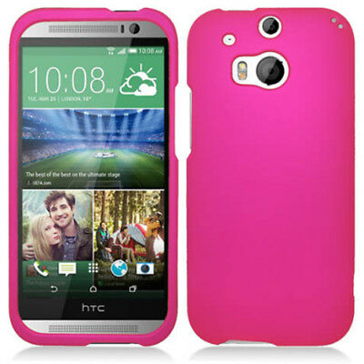 For HTC One M8 / One 2 II (2014) Rubberized Hard Matte Phone Case Snap On Cover