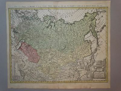 Russland Russia Asia Asien Moscow - Kupferstich Karte engraving map Homann 1786