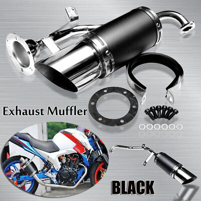 PERFORMANCE EXHAUST MUFFLER PIPE STAINLESS STEEL SET For 150CC GY6 ATV SCOOTERS