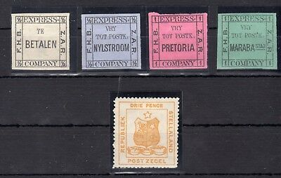 SOUTH AFRICA , FOUR OLD STAMPS , STELLALAND and EXPRESS COMPANY ! MH , LOOK !