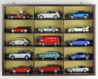 Wooden Display Cabinet designed for 15 1:43 Model Cars - Hangs on wall GIFT WD
