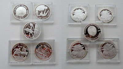 KLGH 5x Won Korea Olympia 2010 & 2012 Sommerspiele 2008 Silber Münze Sport coin