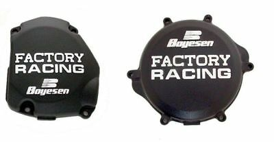 New Boyesen Black Clutch & Ignition Cover Covers For the Suzuki RM 125 1998-2008