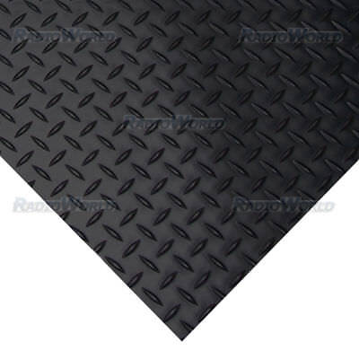Heavy Duty Checker-Plate Rubber Flooring Matt 3mm Anti Slip 150CM X Choice