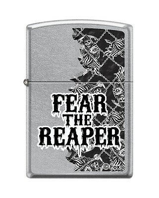 "Zippo ""Sons of Anarchy-Fear the Reaper"" Lighter, Satin Chrome, 8401"
