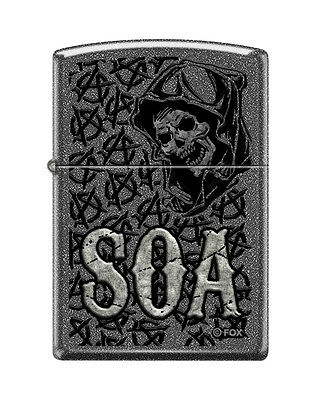 "Zippo ""Sons of Anarchy-SOA"" Lighter, Ironstone Finish, 1340"