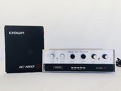 Crown IC-150 Stereo Preamp Preamplifier with Manual - Works excellent!