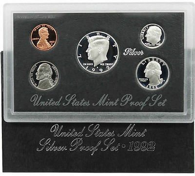 1992 S US Mint Silver Proof Coin Set