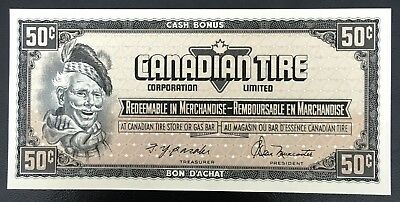 Vintage 1974 Canadian Tire 50 Cents Note ***Crisp Uncirculated*** CTC-S4-E-ZN
