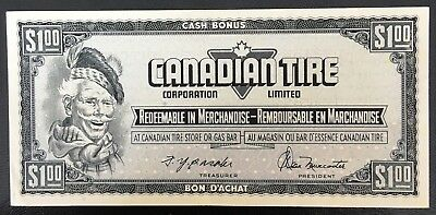 Vintage 1974 Canadian Tire $1 Dollar Note ***Crisp Uncirculated*** CTC-S4-F-FN
