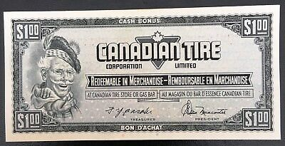 Vintage 1974 Canadian Tire $1 Dollar Note ***Crisp Uncirculated*** CTC-S4-F-DM