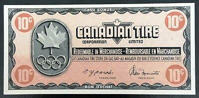 Vintage 1976 Canadian Tire 10 Cents Note ***AU Condition*** CTC-S5-C