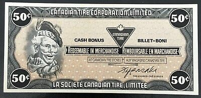 Vintage 1985 Canadian Tire 50 Cents Note ***Crisp Uncirculated*** CTC-S6-E