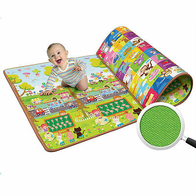 Baby Play Mat child activity kid gift gym crawl boy girl Learning Floor Double
